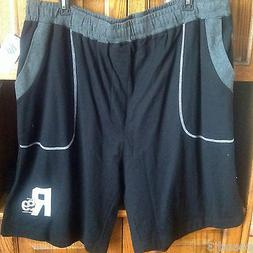 Rocawear Athletic Shorts 3XB Black Grey Pull Up