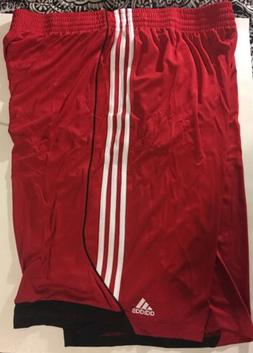 Adidas Big Tall Scarlet Red/ White 3G Speed 2 Athletic Short