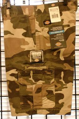 """Dickies CAMO Shorts Men 11"""" Relaxed Fit Ripstop Cargo Phone"""