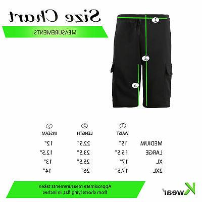 Men's Drawstring Casual Cotton Blend Multi Soft Cargo Shorts