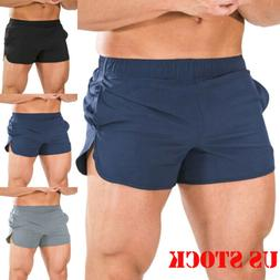 Mens Sports Running Bodybuilding Beach Breathable Shorts Fit