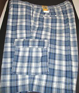 NWT DOCKERS BLUE- WHITE PLAID CARGO SHORTS SIZE 32 #1-531