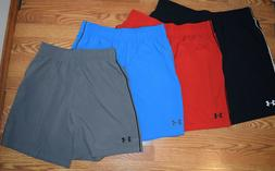 NWT Mens UNDER ARMOUR Heat Gear Loose Fit Pocket Shorts Red