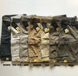 NWT Lee Men's Wyoming Cargo Shorts Belted Dungarees Twill