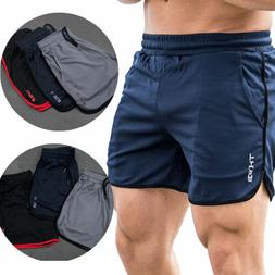 US Mens Gym Training Shorts Workout Sports Casual Clothing F
